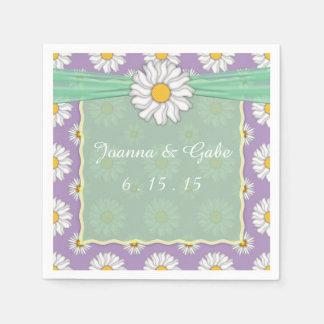 Serviette En Papier Serviettes florales vertes de mariage de