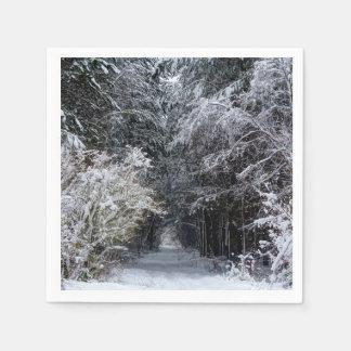 Serviette En Papier Serviettes photographiques de paysage de neige de