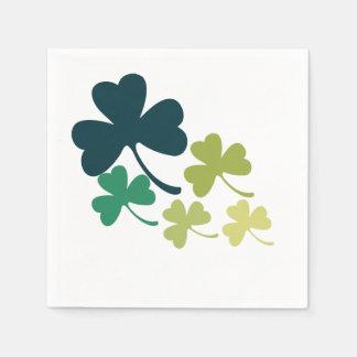 Serviette En Papier Shamrock mignon de Jour de la Saint Patrick