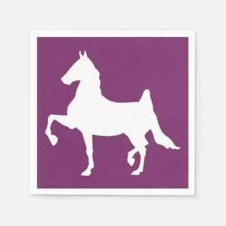 Serviette En Papier Silhouette de cheval de Saddlebred