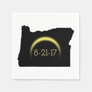 Serviette En Papier Silhouette totale 2017 de l'Orégon d'éclipse