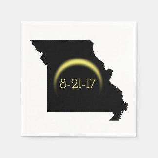 Serviette En Papier Silhouette totale 2017 du Missouri d'éclipse