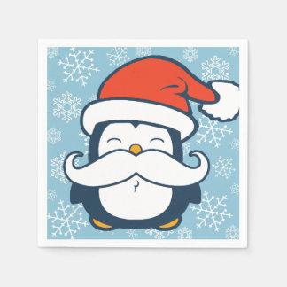 Serviette En Papier Tendance de moustache de pingouin de Noël