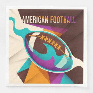 Serviette Jetable Abrégé sur boule de sport de football américain