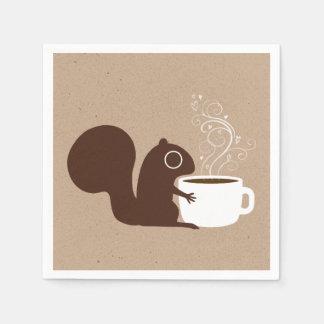 Serviette Jetable Amant de café d'écureuil