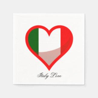 Serviette Jetable Amour de l'Italie