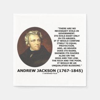Serviette Jetable Andrew Jackson aucuns maux nécessaires dans la
