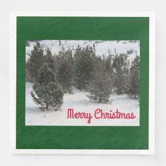 Serviette Jetable Arbre de Joyeux Noël - serviettes