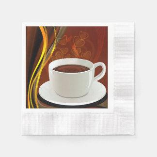 Serviette Jetable Art de café de café