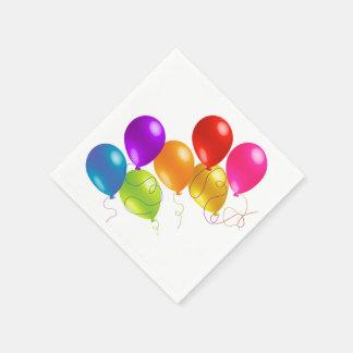 Serviette Jetable Ballons colorés
