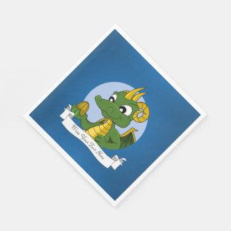 Serviette Jetable Bande dessinée de dragon vert