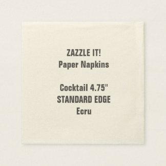 Serviette Jetable Blanc simple fait sur commande de serviettes de