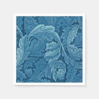 Serviette Jetable Bleu vintage d'acanthe de William Morris