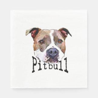 Serviette Jetable Chien de Pitbull