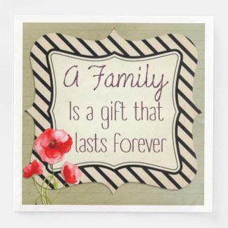 Serviette Jetable Citation inspirée de famille