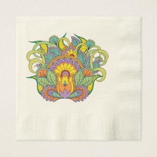 Serviette Jetable colorful zen composition floral