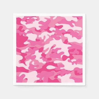 Serviette Jetable Conception rose et blanche de Camo