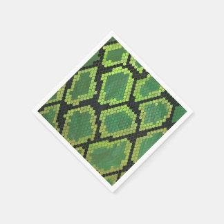 Serviette Jetable Copie noire et verte de serpent
