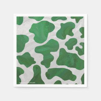 Serviette Jetable Copie verte et blanche de vache