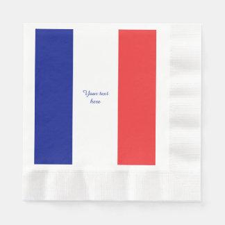 Serviette Jetable Drapeau de Français Tricolore de la France