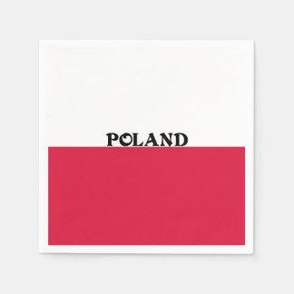 Serviette Jetable Drapeau de la Pologne