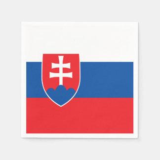 Serviette Jetable Drapeau de la Slovaquie