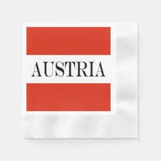 Serviette Jetable Drapeau de l'Autriche