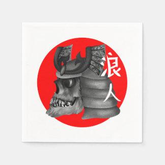 Serviette Jetable Drapeau japonais samouraï de Ronin