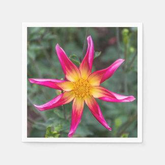 Serviette Jetable Fleur colorée