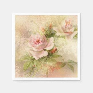 Serviette Jetable Fleur de cru de rose rose