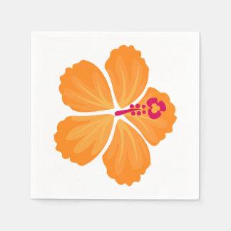 Serviette Jetable Fleur orange de ketmie