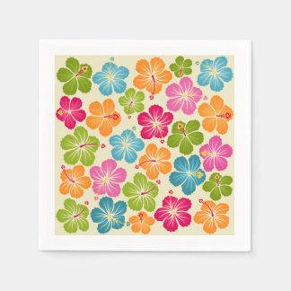 Serviette Jetable Fleurs de Hibiscua