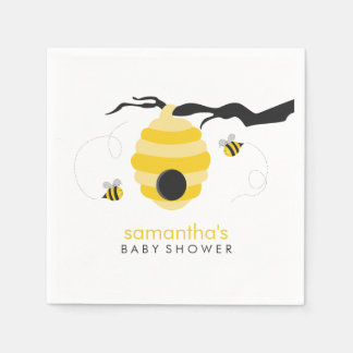 Serviette Jetable Gaffez le baby shower d'abeilles