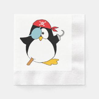 Serviette Jetable Graphique de pingouin de pirate