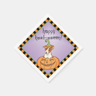 Serviette Jetable Halloween Basenji