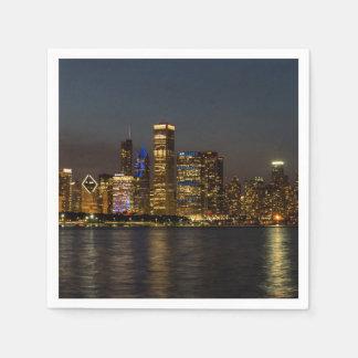 Serviette Jetable Horizon Chicago Pano de nuit