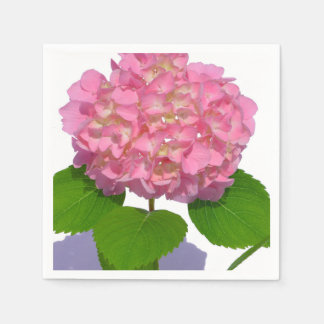 Serviette Jetable Hortensia rose