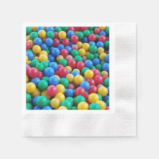 Serviette Jetable Jeu coloré d'enfants de boules de mine de boule