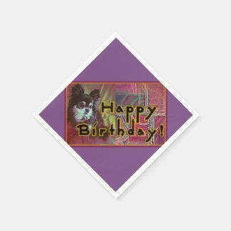 Serviette Jetable Joyeux anniversaire !