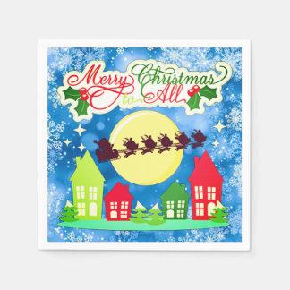 Serviette Jetable Joyeux Noël à tous