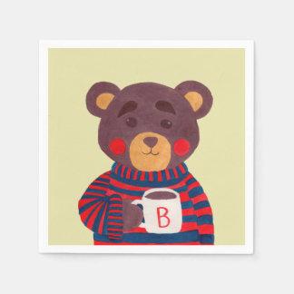 Serviette Jetable La saison d'hiver vient (l'ours)