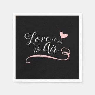 Serviette Jetable L'amour est dans le ciel - style vintage de