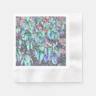 Serviette Jetable L'arbre coloré de crayon laisse des serviettes de