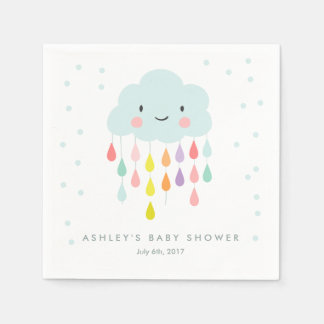 Serviette Jetable Le bébé de serviette de papier de nuage arrosent