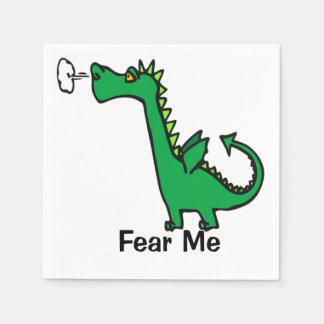 Serviette Jetable Le dragon de bande dessinée me craignent
