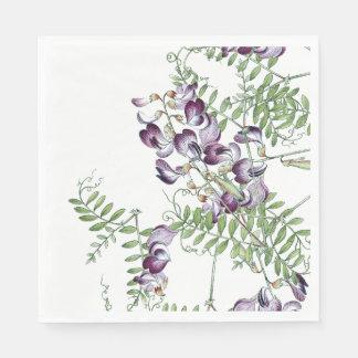 Serviette Jetable Le fleur sauvage botanique de vesce fleurit les