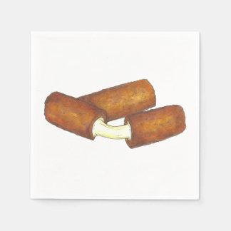Serviette Jetable Le fromage de mozzarella colle des serviettes de