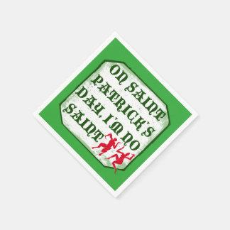 Serviette Jetable Le jour I´m de ´s de St Patrick aucun saint,