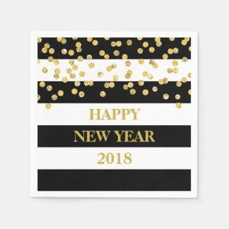 Serviette Jetable Le noir barre des serviettes de bonne année de
