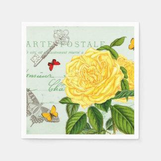 Serviette Jetable Les serviettes de papier vintages florales